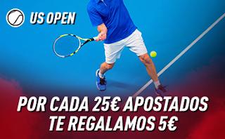sportium Promo US Open: Por cada 25€ ¡Te damos 5€! 2-8 septiembre