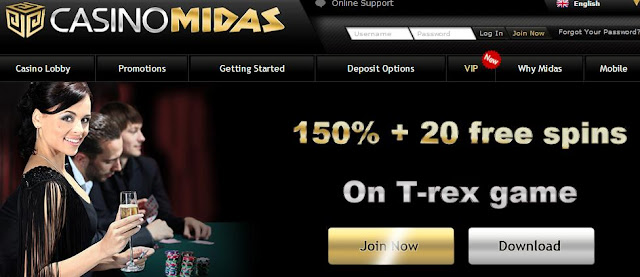 Casino Midas Exclusive Bonuses