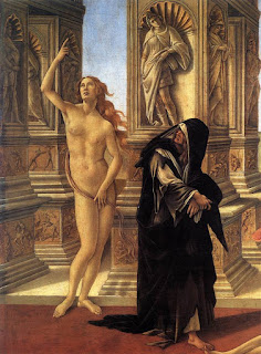 Paintings by Botticelli were considered indecent under's Savonarola's moral code