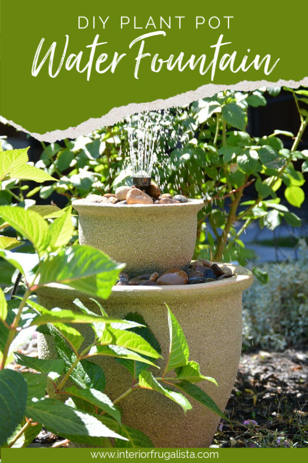 DIY Backyard Plant Pot Water Fountain