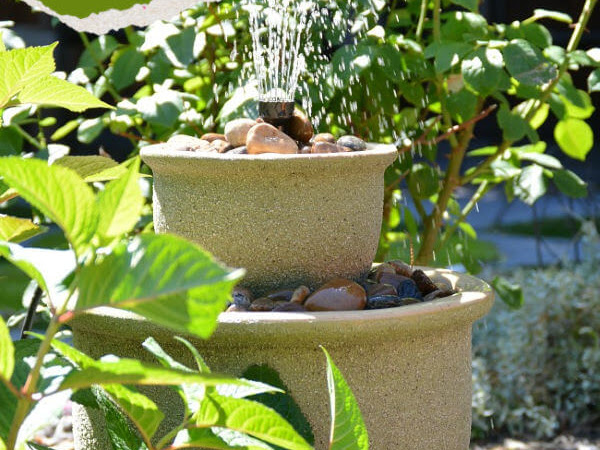 How To Turn Plant Pots Into A Water Fountain