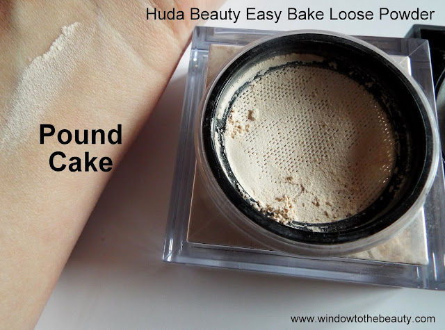Huda Beauty pound cake powder swatche