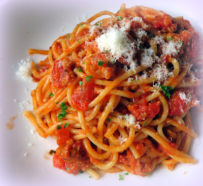 Spaghetti with Quick Bolognese Sauce