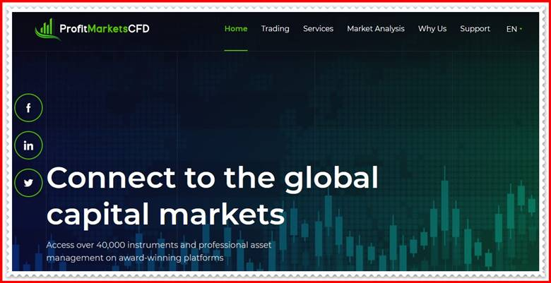 [ЛОХОТРОН] profitmarketscfd.com – Отзывы, развод? Компания Profit Markets CFD мошенники!