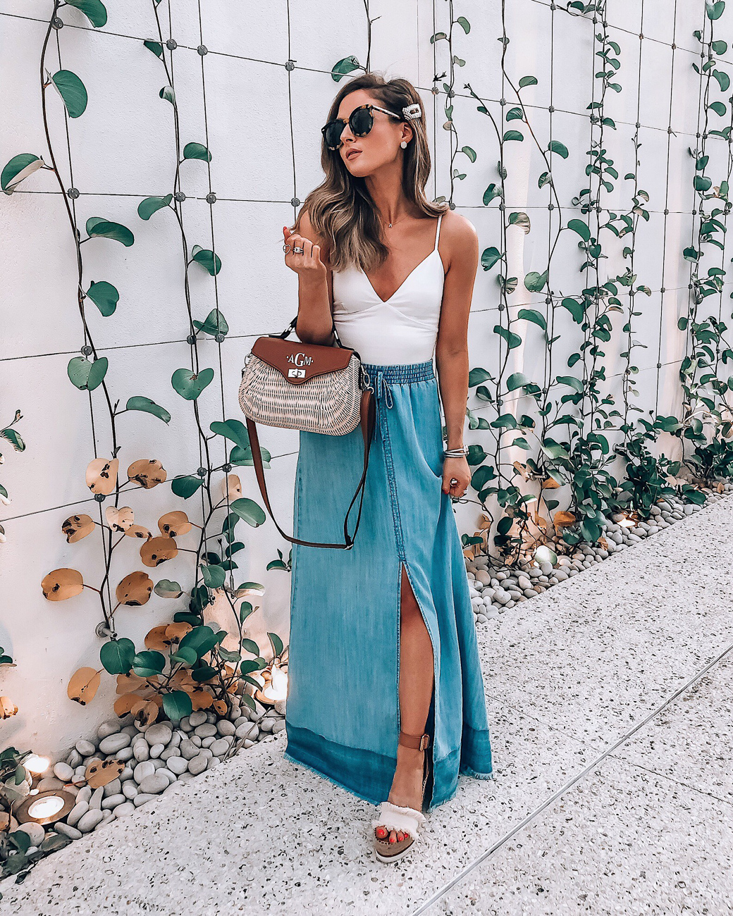 bb dakota maxi skirt
