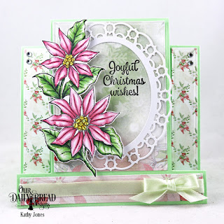 Our Daily Bread Designs Stamp Set: Joyful Christmas, Custom Dies: Center Step Card, Center Step Layers, Layered Lacy Ovals, Pierced Ovals, Paper Collection: Christmas 2018