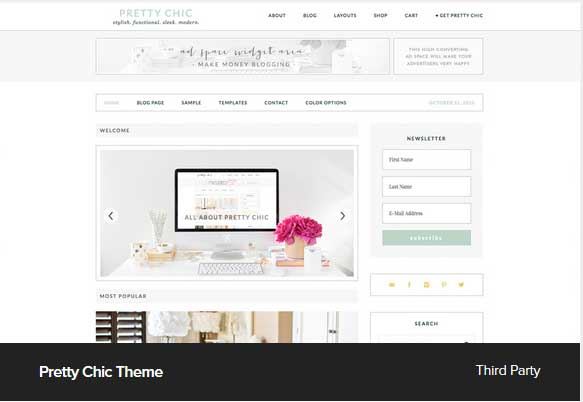 Pretty Chick Theme Award Winning Pro Themes for Wordpress Blog : Award Winning Blog