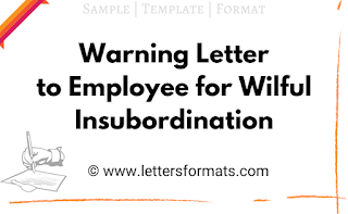 how to write a warning letter to an employee for insubordination