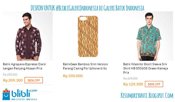 #BlibliGaleriIndonesia Produk Kreatif Asli Indonesia - Galeri Batik Indonesia