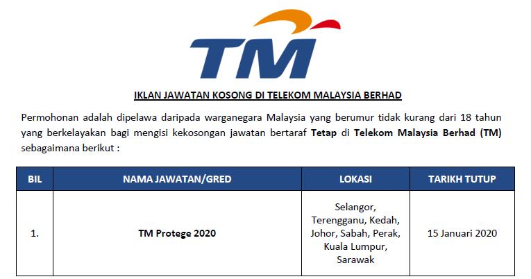 Jawatan Kosong Di Telekom Malaysia Berhad Elaun Rm2 000 00