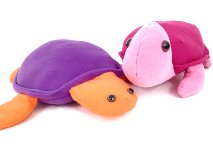 plush turtle and plush sea turtle