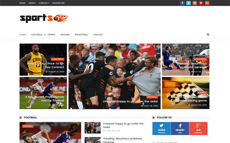 Sports Free Blogger Template