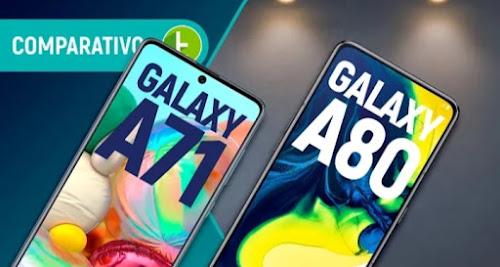 GALAXY A71 vs A80