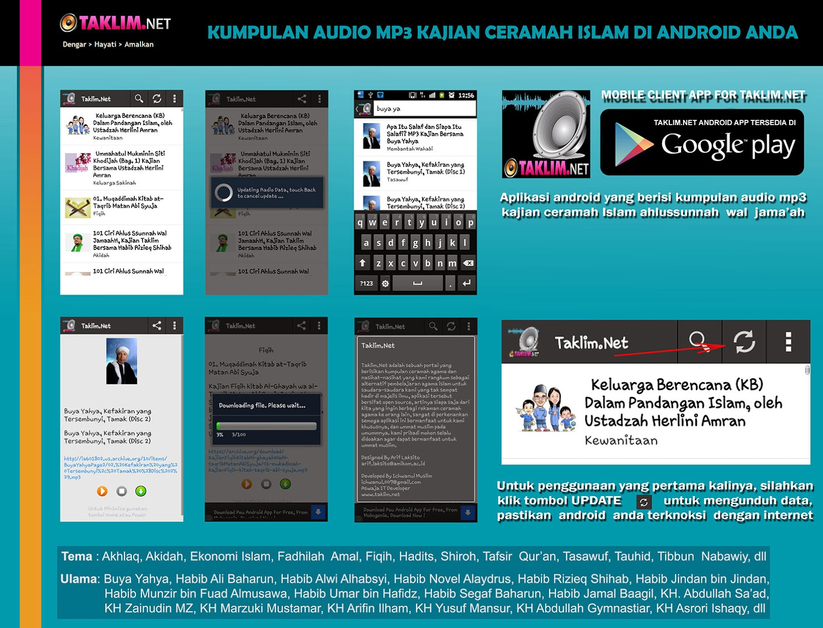 Download dan Install Aplikasi Android Islami Taklim.Net
