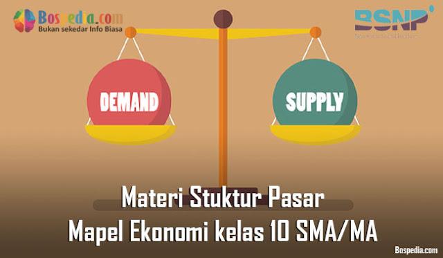 Materi Stuktur Pasar Mapel Ekonomi kelas 10 SMA/MA