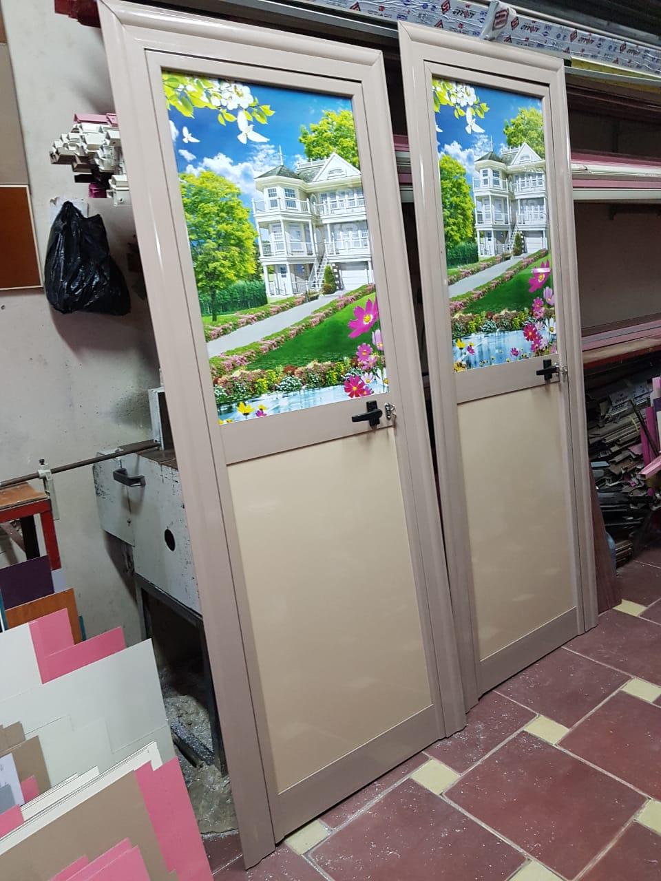 صورة باب حمام ألوميتال قطاع بي إس صغير
