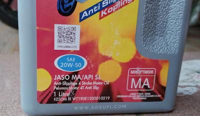 barcode scan di botol enduro oli motor terbaik