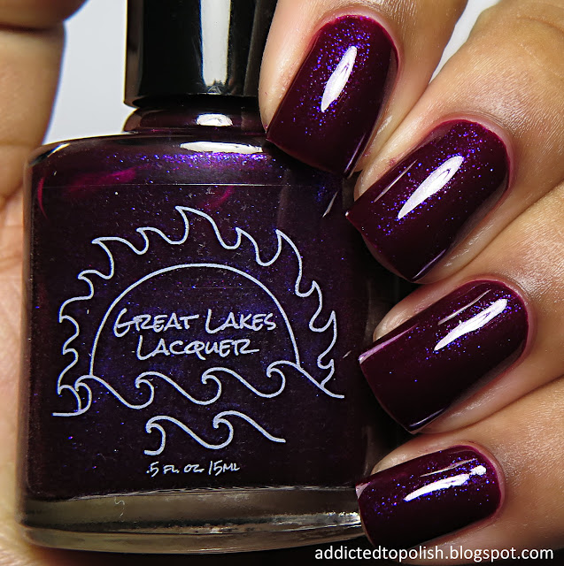 great lakes lacquer washed in magenta