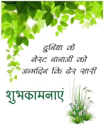 Birthday Shayari For Nana Ji In Hindi