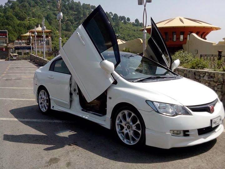 Modified Cars: Modified Doors Of Honda Civic Reborn