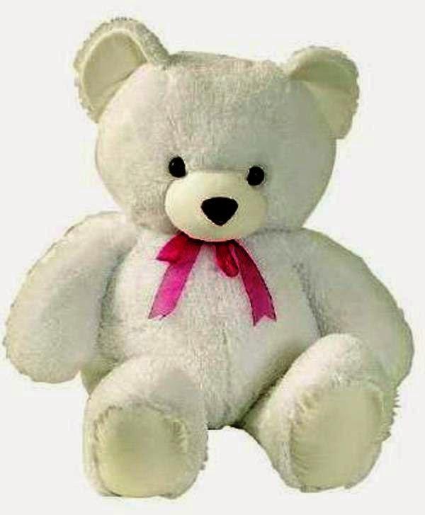 Lucunya boneka beruang putih yang satu ini