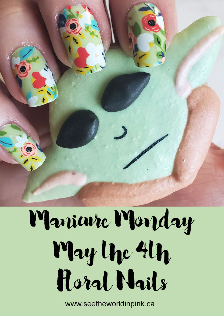 Manicure Monday - May the 4th Floral Nails