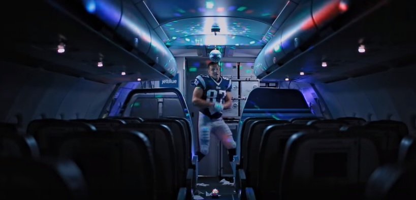 "See NFL Star Rob Gronkowski Shake His Stuff in JetBlue's ""Bring Your Nephew to Work Day"" Ad"