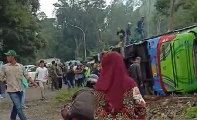 Hasil Keterangan Dari Korban Selamat Kecelakaan Bus di Ciater Subang