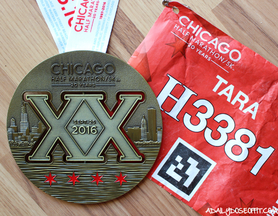 race recap, running, Chicago, race medal, race bling, race bib