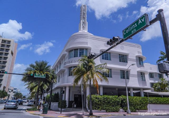 Essex Hotel, exemplo de arquitetura art déco em South Beach, Miami Beach
