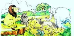 Hindi moral stories of Lion and lomadi
