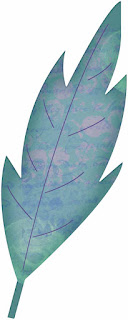 Altered Art Leaf #1 - free scrapbook element