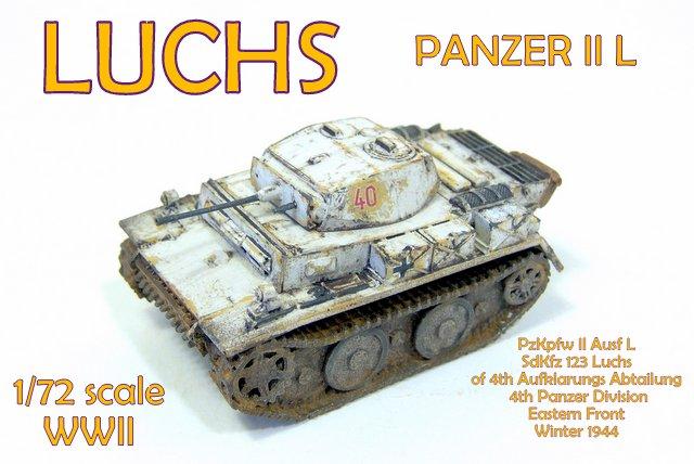 Gulumik Military Models: Luchs Panzer II D 1/72 ModellTrans