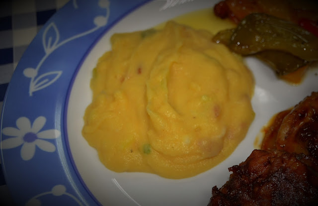 polenta with bacon and spring onions