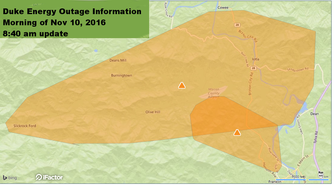 Update on Outage Locations