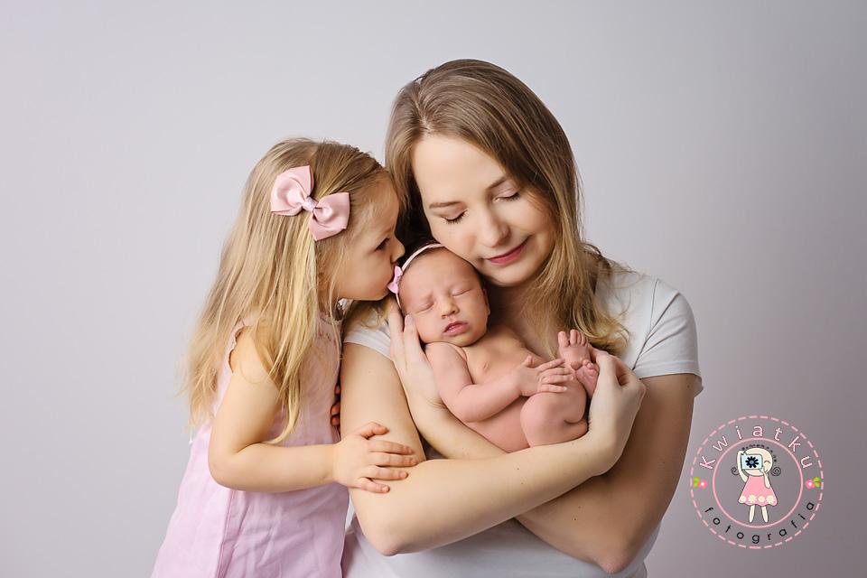 Zdjęcie mamy z córeczkami