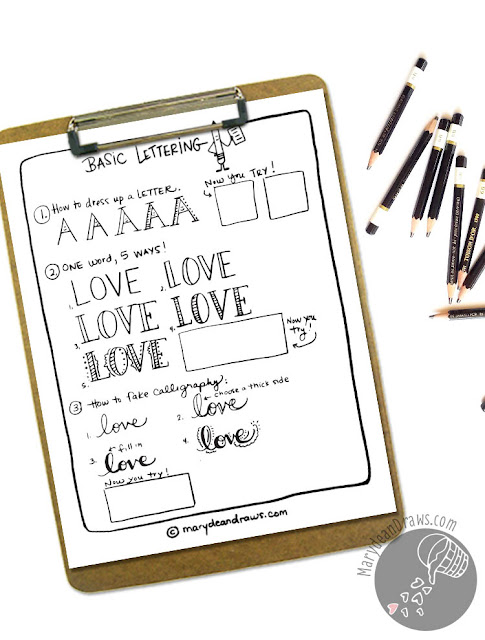 A simple introduction to Bible doodling with Marydean Draws