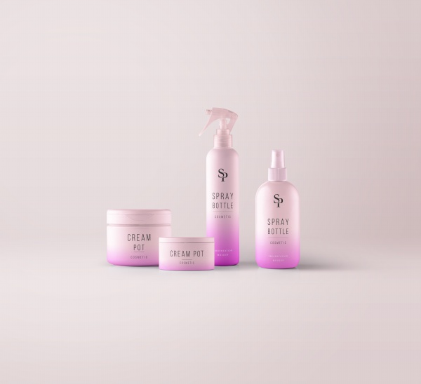 Cosmetic packaging prototype free psd