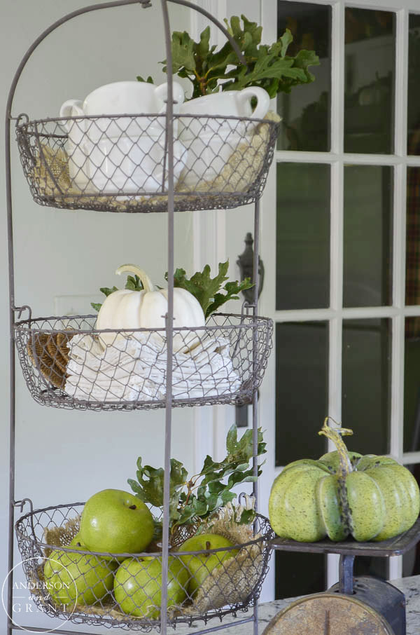 These Hobby Lobby baskets are a perfect place to store everyday items in the kitchen and can be transformed for fall decorating.  |  www.andersonandgrant.com