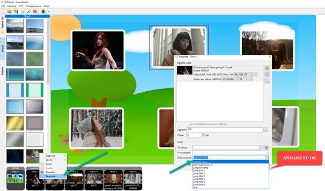 creazione di video con menu