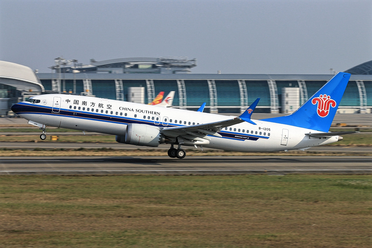 Boeing 737 MAX 8 China Southern Airlines B-1205 Takeoff