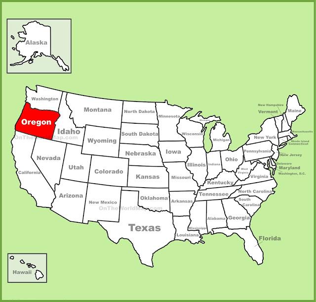 Oregon State On Us Map: Oregon Map Us At Slyspyder.com