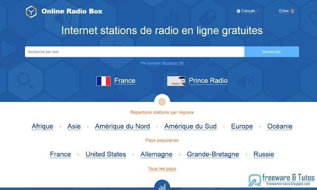 Online Radio Box : écoutez les radios du monde entier gratuitement