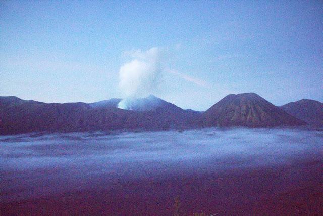 Stunning View Of One bLur Morning at Mount Bromo