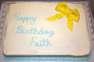 Jacqueline S Sweet Shop Happy Birthday Faith Sheet Cake