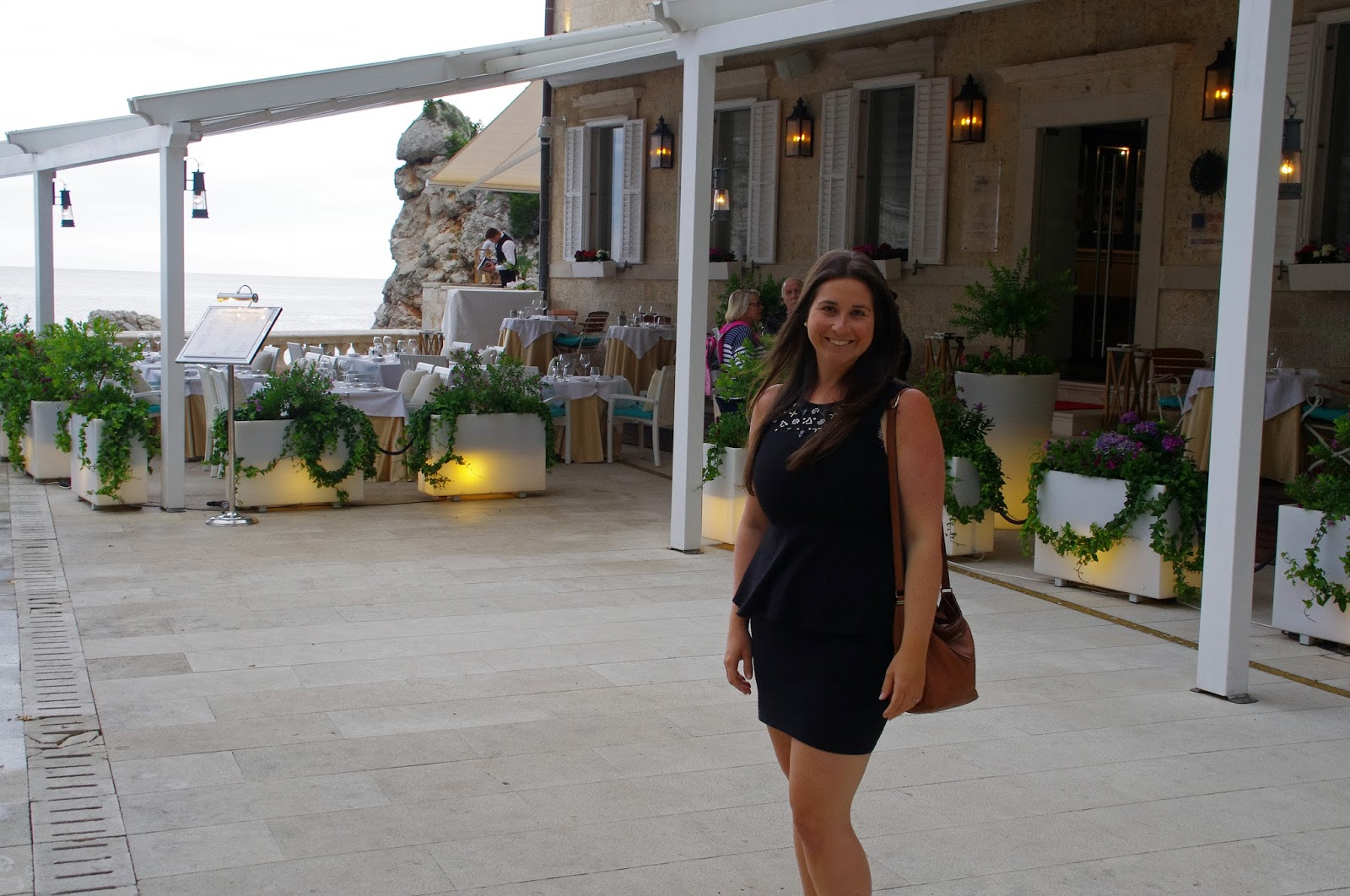 Simone out the front of Nautika Restaurant Dubrovnik
