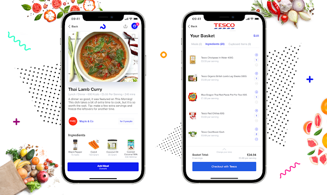 Plate Up in a new app that suggests recipes to suit your family and then you can do your shop within 5 minutes to be delivered to your door.