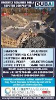 Dubai Civil Construction Vacancy