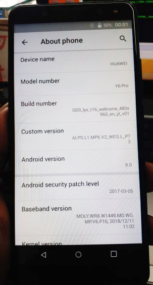 Huawei Clone Y6 Pro Flash File MT6580 Android 9 0 Pie LCD Fix Dead