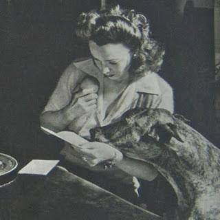 Carole Landis Reading A Letter